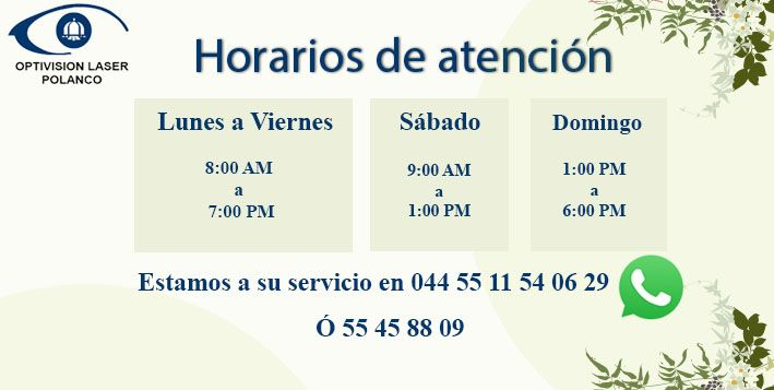 horario optivision laser polanco